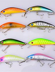 preiswerte -8 Stück Harte Fischköder kleiner Fisch Angelköder Ködertasche kleiner Fisch Harte Fischköder Fester Kunststoff Kunststoff Köderwerfen