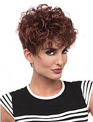 Popular Mixed Brown Color Wig For Black Women Curly Synthetic European Women Wig