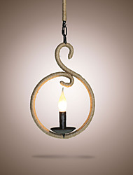 cheap -The Chandelier Rope Creative Personality Bar Cafe American Retro Small Chandelier Lamp