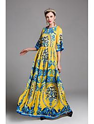 abordables -Mujer Corte Swing Vestido - Estampado Maxi