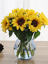 cheap -6 Branches Sunflower Artificial Flowers Home Decoration Wedding Supply