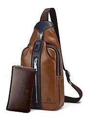 economico -Per uomo Sacchetti PU sacchetto regola Set di borsa da 2 pezzi Tinta unita Blu / Nero / Marrone / Set di sacchetti