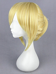 Capless High Temperature Fiber Anime Vocaloid Kagamine Len Cosplay Wigs