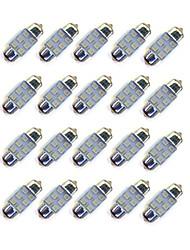Недорогие -20pcs 31mm 6 * 2835 smd вело свет автомобиля bule освещение dc12v