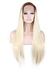 Synthetic Wig Natural Straight Long Brown/Blonde Wig for Women Costume Wigs Lace Front Wig