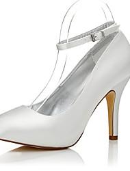 abordables -Femme Chaussures Soie Hiver Automne Confort club de Chaussures Chaussures Dyeable Chaussures à Talons Talon Aiguille Bout rond Bout fermé