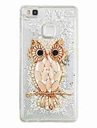 cheap -For Huawei P9 Lite Huawei P8 Lite Flowing Liquid Pattern Case Back Cover Case Owl Soft TPU