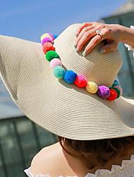 Недорогие -Для женщин На каждый день Шляпа от солнца,Лето Соломка Пэчворк