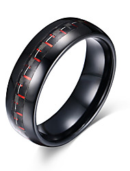 Men's Ring Basic Fashion Personalized Euramerican Simple Style Tungsten Steel Circle Round Geometric Jewelry For Party Anniversary