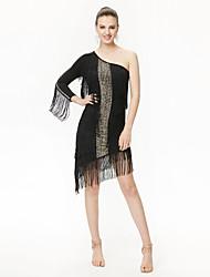 cheap -Shall We Latin Dance Dresses Women Performance Sequined Dress