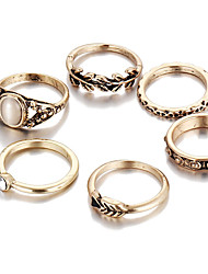 cheap -Women's Alloy - Unique Design / Vintage / Fashion Gold Ring For Wedding / Party / Daily
