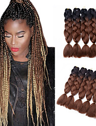 Недорогие -Волосы для кос Крупные косы / Вязание крючком для волос 5 шт. в упаковке косы волос Для вечеринок / синтетический / Шерсть Halloween / Маскарад
