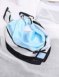 cheap -Women's Nylon Silk Scarf Cute Work Casual Square 70*70 Print Blue/Beige/Grey