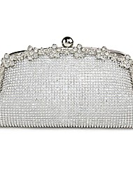 cheap -Women's Bags Special Material Evening Bag Beading / Crystal / Rhinestone / Flower Solid Colored Gold / Silver / Wedding Bags / Wedding Bags
