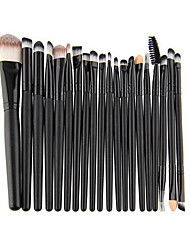 20pcs Contour Brush Makeup Brush Set Eyeshadow Brush Lip Brush Brow Brush Eyeliner Brush Liquid Eyeliner Brush Eyelash Comb (Round) Eyelash