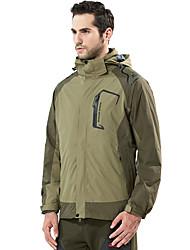 Men's Hiking 3-in-1 Jackets Outdoor Waterproof Thermal / Warm Windproof Dust Proof Breathable Winter Jacket 3-in-1 Jacket Top Double