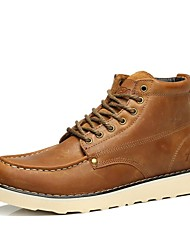 cheap -Men's Boots Spring Summer Fall Winter Comfort Nappa Leather Outdoor Office & Career Party & Evening Casual Work & Safety Lace-up