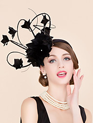 Rhinestone Feather Fascinators Hats Headpiece Classical Feminine Style