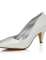 abordables -Femme-Mariage Extérieure Bureau & Travail Habillé Soirée & Evénement-Ivoire-Talon Cône-Confort club de Chaussures Chaussures Dyeable-