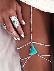 cheap -Body Chain / Leg Chain Turquoise Vintage, Bohemian, Gothic Women's Gold / Silver Body Jewelry For Special Occasion / Gift / Casual