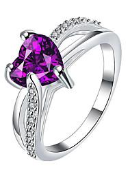 preiswerte -Statementringe Ring Verlobungsring Kubikzirkonia Modisch individualisiert Euramerican Sterling Silber Verschiedene Farben Schmuck Für