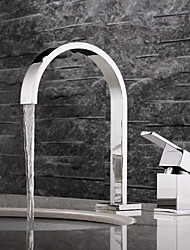 cheap -Bathroom Sink Faucet - Widespread Chrome Widespread Two Handles Two Holes