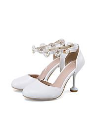Da donna-Sandali-Matrimonio Formale Serata e festa-Comoda Cinturino alla caviglia Scarpe Flower Girl-A stiletto-PU (Poliuretano)-