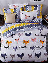 cheap -Duvet Cover Sets Geometric 4 Piece Poly/Cotton Reactive Print Poly/Cotton (If Twin size, only 1 Sham or Pillowcase)