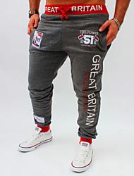economico -Per uomo Largo Attivo Pantaloni della tuta Chino Pantaloni - Alfabetico, Con stampe
