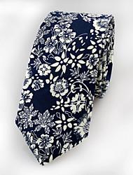 cheap -Men's Cotton Neck Tie,Vintage Cute Party Work Casual Jacquard All Seasons Navy Blue