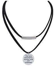 Femme Collier court /Ras-du-cou Pendentif de collier Collier multi rangs Bijoux Forme de Cercle Bijoux Alliage Basique Stras Naturel
