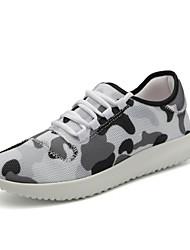 Masculino-Tênis-Conforto Solados com Luzes par sapatos-Rasteiro--Tule-Ar-Livre Casual Para Esporte
