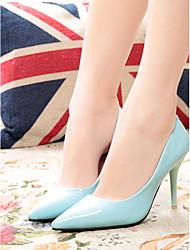 economico -Per donna Scarpe Finta pelle Primavera / Autunno Comoda / Club Shoes Tacchi A stiletto Appuntite / Punta chiusa Rosso / Blu / Rosa