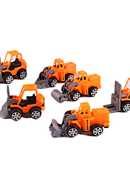 cheap -Toy Cars Pull Back Vehicles Pull Back Car/Inertia Car Construction Vehicle Toys Simulation Toys Plastic 6 Pieces Unisex Gift