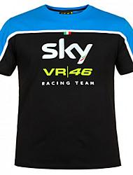 Moto summer vr46 racing sues short t moto loisirs rapide séchage court t tour de locomotive treillage rapide