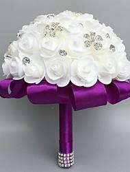 Fleurs de mariage Rond Roses Bouquets Cérémonie de mariage Mousse Strass Env.30cm