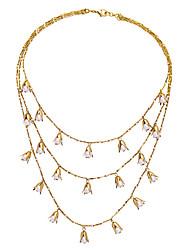 baratos -Mulheres colares em camadas - Original Branco, Verde Claro Colar Para Presente, Diário