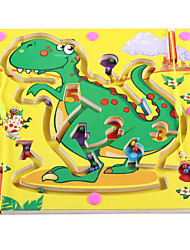 cheap -Board Game Magnetic Maze Toys Square Wood Pieces Children's Gift