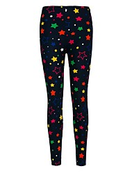 Women's Sporty Look Polyester Colorful Star Cartoon Leggings Print Leggings Soft