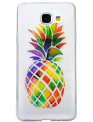 cheap -For Samsung Galaxy A3 (2016) A5 (2016) Case Cover Pineapple Pattern High Transparent TPU Material IMD Craft Mobile Phone Case  A3 (2017) A5 (2017)