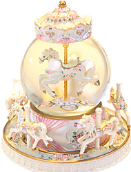 cheap -Music Box Snow Globe Cylindrical Gift Kid's Adults Kids Gift Unisex
