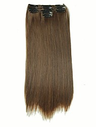 cheap -False Hair Extension 11 Clips Clip in Hair Extensions Synthetic Hair Apply Hairpiece 22 Long Straight Hairpieces D1020 4/30#
