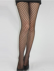 cheap -Women's Thin Pantyhose,Nylon Solid Black