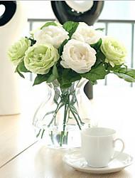 billige -Kunstige blomster 1 Afdeling Europæisk Stil Roser Bordblomst