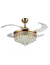 cheap -Ceiling Fan ,  Modern/Contemporary Traditional/Classic Electroplated Feature for Crystal Designers MetalLiving Room Bedroom Dining Room