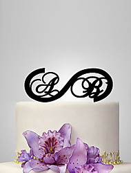 cheap -Cake Topper Garden Theme Classic Theme Rustic Theme Monogram Acrylic Wedding Anniversary Bridal Shower With OPP