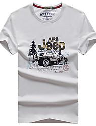 Homme Tee-shirt de Randonnée Séchage rapide Respirable Tee-shirt Hauts/Top pour Camping / Randonnée Eté L XL XXL XXXL XXXXL