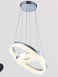 Dimmable Ceiling Pendant Light Indoor Acrylic Ring LED Chandeliers Home Lighting Fixtures with 36W with Remote Control