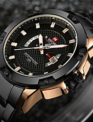 cheap -NAVIFORCE Men's Quartz Wrist Watch Military Watch Sport Watch Japanese Calendar / date / day Water Resistant / Water Proof LED Large Dial