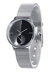 billige -Herre Armbåndsur Quartz Hot Salg Legering Bånd Analog Afslappet Mode Sølv - Sølv
